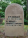 Westerveld: urnenmonument F.M. Wibaut