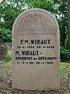 foto van Westerveld: urnenmonument F.M. Wibaut