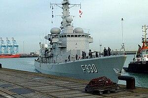 Belgian Navy - Image: F930 leopold Zeebrugge