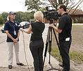 FEMA - 44946 - FEMA public affairs offcer giving interview with media in IL.jpg