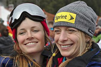 FIS Moguls World Cup 2015 Finals - Megève - 20150315 - Keaton McCargo et Hannah Kearney.jpg