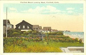 Fairfield, Connecticut - Fairfield Beach, in a 1921 postcard