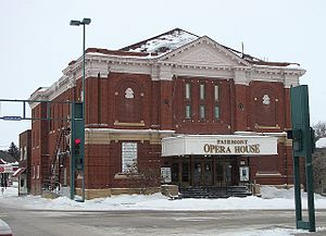 National Register of Historic Places listings in Martin County, Minnesota - Image: Fairmont Opera House, front