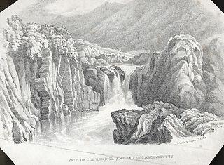 Fall of the Rheidiol 7 miles from Aberystwyth