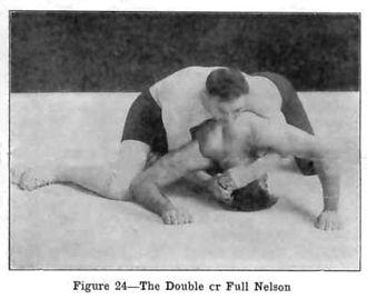 Nelson hold - Full nelson.