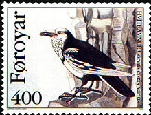 Faroe stamp 276 the north atlantic raven (corvus corax varius).jpg