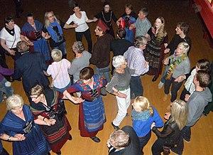 Faroese dance - Faroese chain dance in Sjónleikarhúsið in Tórshavn on Ólavsøka 29 July 2011.