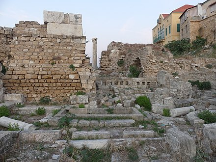 Remains of the Fatimid Mosque: water basin and circuits for ablutions FatimidGrandMosque TyreSour RomanDeckert23112019.jpg