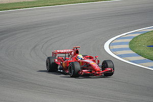 Felipe Massa - Massa driving for Ferrari at the 2007 United States Grand Prix