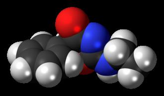 Fenozolone - Image: Fenozolone molecule spacefill