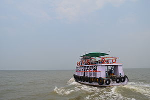 Alibag - Ferry service between Mandwa and Gateway of India, Mumbai. They run at a frequency of an hour throughout the year from morning 6 to evening 6, except during monsoon.