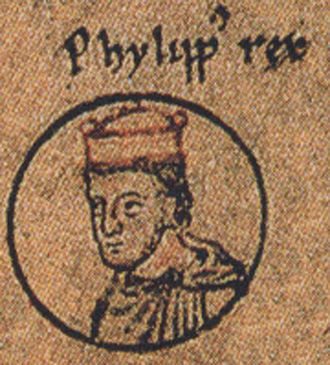 Philip of Swabia - King Philip, 1237 depiction