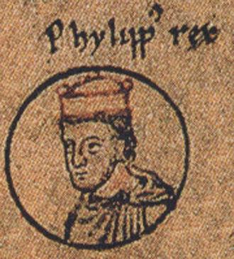 Philip of Swabia - King Philip, 1237 depiction