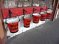 Fire buckets, Minehead Station - geograph.org.uk - 1715978.jpg