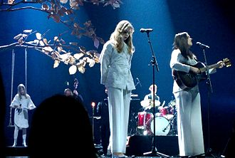 First Aid Kit (band) - First Aid Kit at their Leonard Cohen tribute concert in Dramaten, Stockholm, Sweden 13 March 2017