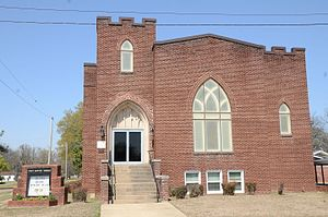 First Baptist Church (Marvell, Arkansas) - Image: First Baptist Church, Marvell, AR