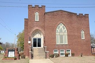 Marvell, Arkansas - Image: First Baptist Church, Marvell, AR