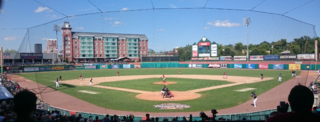 Double-A (baseball) Minor League Baseball competition level between High-A and Triple-A