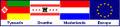 Flag combination of Tynaarlo, Drenthe, the Netherlands and Europe - German names-2.jpg