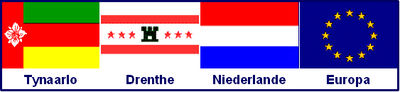 Flag combination of Tynaarlo, Drenthe, the Netherlands and Europe - German names-2.jpg