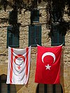 Flags of Turkey and Northern Cyprus - Northern Nicosia - Turkish Republic of Northern Cyprus - 01 (28439610076).jpg