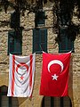 Flags of Turkey and Northern Cyprus - Northern Nicosia - Turkish Republic of Northern Cyprus - 01 (28439610076).jpg