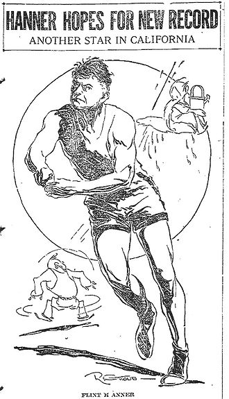 Flint Hanner - Newspaper cartoon of Hanner, March 1922