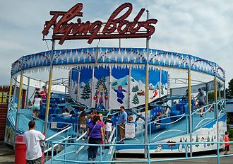 Beech Bend Park - The Flying Bobs ride, seen here in 2016, was refurbished in 2014.