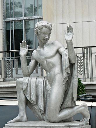 Brenda Putnam - Puck (1930-32, replica 2002), Folger Shakespeare Library, Washington, D.C.