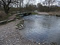 Footbridge and ford over the River Poulter at Crook Ford - geograph.org.uk - 1206678.jpg