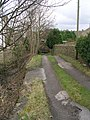 Footpath alongside Stream - Main Street - geograph.org.uk - 1188263.jpg