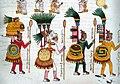Four Aztec Warriors in Drawn in Codex Mendoza.jpg