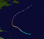 Track map of Hurricane Fox