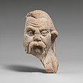 Fragment of a terracotta head of a satyr MET DP114321.jpg