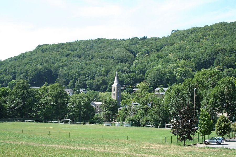Fraisse-sur-Agout (Hérault) - vue générale.