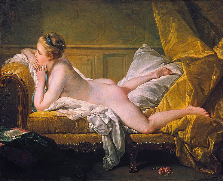 François Boucher, Ruhendes Mädchen (1751, Wallraf-Richartz Museum)