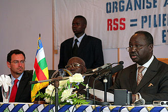 François Bozizé - Bozizé at the Security Sector Reform Meeting in Bangui