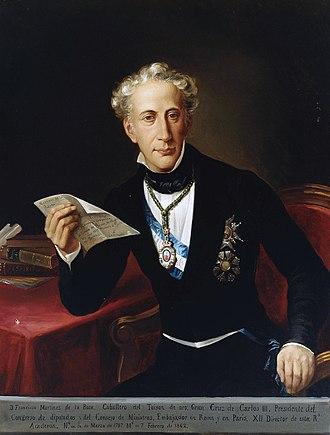 Francisco de Paula Martínez de la Rosa y Berdejo - Image: Francisco Martínez de la Rosa (Museo del Prado)