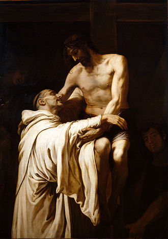 Francesc Ribalta - Deposed Christ embracing St. Bernard Clairvaux