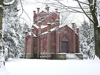 Emilie Ortlöpp -  Reichenbach-Lessonitz Mausoleum by Friedrich Hessemer at Frankfurt's main cemetery