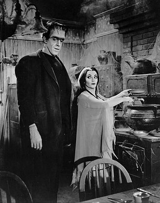 The Munsters - Herman and Lily in the kitchen