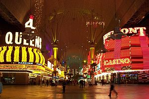 Fremont Street Experience - Fremont Street by night