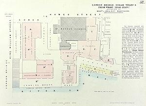 Fresh Wharf - Plan of Fresh Wharf in 1857