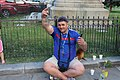 Friendly Romanian at Bucharest North Railway Station (28531996471).jpg
