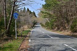 福島県道371号湯の岳別所線 - Wi...
