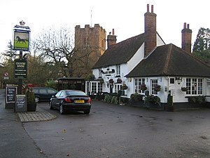 image of Fulmer, Black Horse public house and the church of St James - geograph.org.uk - 613424