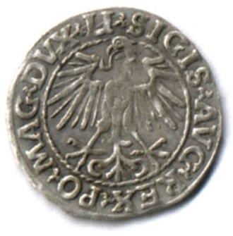 Polish złoty - Półgrosz reverse, 1548