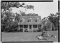 GENERAL VIEW OF SOUTH (FRONT) ELEVATION - Snee Farm, 1240 Long Point Road, Mount Pleasant, Charleston County, SC HABS SC,10-MOUP.V,2-11.tif