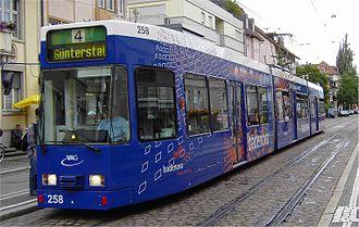 Freiburger Verkehrs AG - Image: GT8Z VAG Freiburg