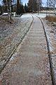 Gammelt jernbanespor som tursti ved Raufoss.jpg